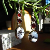 Indian Earrings Jewelry - pure Silver and with gemstones