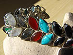 Indian Bracelet Jewelry - pure Silver and with Gemstones