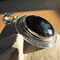 Onyx Pendants - Indian Jewelry in Silver