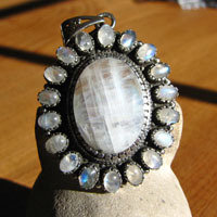 Moonstone Pendants - Indian Jewelry from Silver