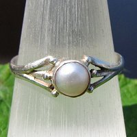 Indian 925 Silver Rings Jewelry with Pearl -50%