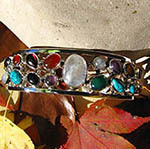 Indian Bangles Jewelry • pure Silver | with Gemstones