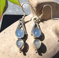 Charming Chalcedony Earrings - Jewelry Design 925 Silver