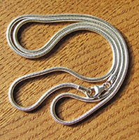 Indian Snake Chain Ø 1.6mm pure 925 Sterling Silver