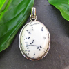 Dendritic Opal Pendant - Indian 925 Silver Jewelry