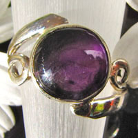 Charming Ring with purple Amethyst - Indian 925 Silver Jewelry