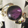 Charming Ring with purple Amethyst - Indian Silver Jewelry