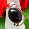 Indian Silver Rings Jewelry Onyx in modern design