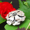 Enchanting Ethnic Ring Flower Shape - Indian Silver Jewelry