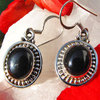 Indian Earrings Jewelry - Onyx adorned with Silver