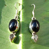 Indian Earrings Onyx with Citrine ⯌ Jewelry Design 925 Silver