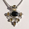 Charming Pendant Onyx with Citrine • 925 Silver Design