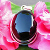 Onyx Pendant small 925 Silver Rim - Indian Jewelry