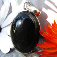 Indian 925 Silver Jewelry Pendant with Onyx oval -70%