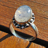 Indian Silver Rings Jewelry - Moonstone ornated