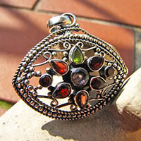 Indian Pendant • Ethnic Style • Silver Jewelry -50%