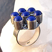 Indian Ring with Lapis Lazuli -70% discount