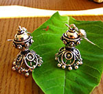 Earrings pure Silver - Indian 925 Silver Earrings Jewelry