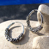Indian Hoop Earrings Ethnic Style - 925 Silver Jewelry