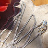 Indian Pendant Curb Chain - delicate 1.2 mm Silver Chain