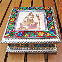 Indian Meenakari Casket - Jewelry Case /7-1 small flaws