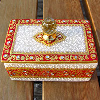 Jewelry Caskets Meenakari | Sheesham Wood | Painted Paper