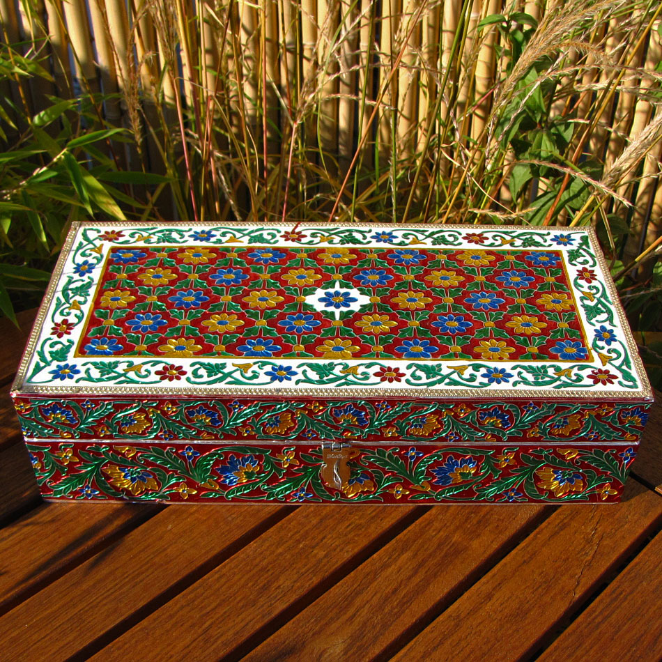 Indian Meenakari Casket - Jewelry Case Box /8