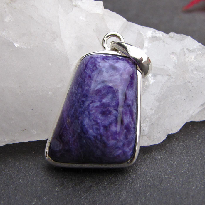Jewelry Pendant 925 Silver with rare Charoite/1