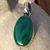 Malachite Pendant oval - Indian 925 Silver Jewelry
