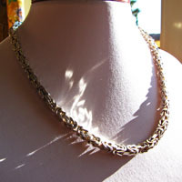 King's Chain Necklace 6 mm square 925 Sterling Silver /9-2