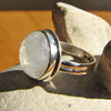 Attractive Moonstone Ring round - Indian Silver Jewelry