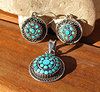 Jewelry Set with Turquoise - Indian Ethnic style 925 Silver
