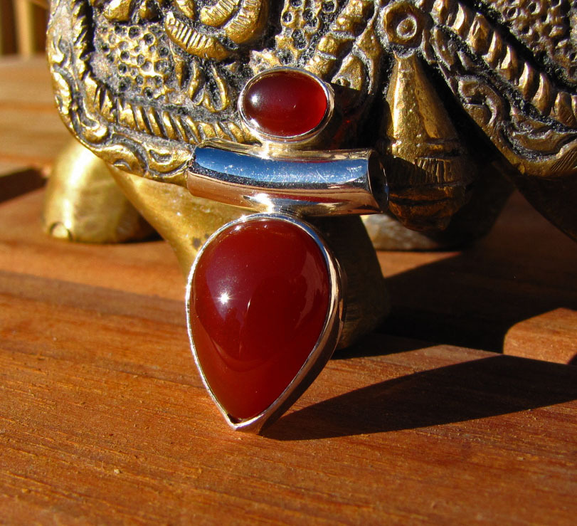 Indian Carnelian 925 Silver Jewelry Pendant /7