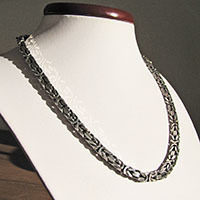 Indian King's Chain 6 mm square in Ethnic Look 925 Sterling Silver
