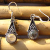 Indian Earrings - Moonstone beautiful adorned in Silver