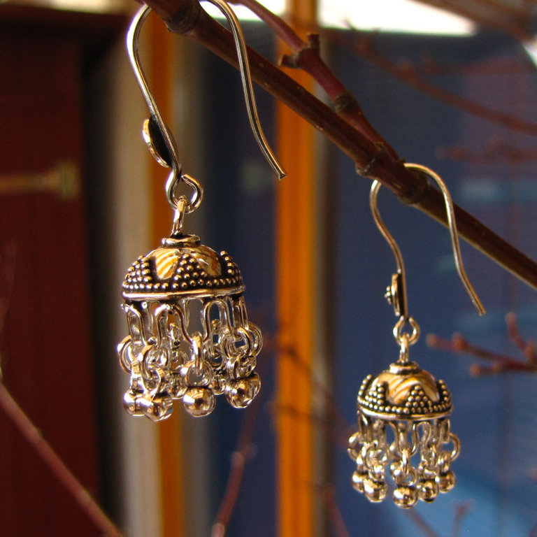 Enchanting Indian Ethnic Earrings - 925 Silver Jewelry
