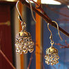 Indian Ethnic Jewelry Earrings 925 Silver /13