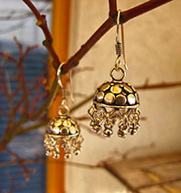 Charming Indian Ethnic Earrings - 925 Silver Jewelry