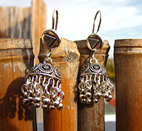 Indian Earrings antique ethnic look pure 925 Silver