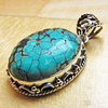 Indian Turquoise Silver Jewelry Pendant/9