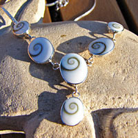 Charming Shiva Shell Necklace in 925 Sterling Silver