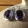 Earrings Amethyst facetted - Indian Silver Jewelry