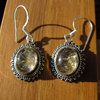 Indian 925 Silver Earrings Jewelry with Rutile Quartz /1