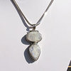 Indian Pendant - two Moonstones Gems in 925 Silver