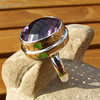 Splendid Amethyst Ring - Indian 925 Silver Jewelry