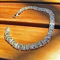 Flat Byzantine Chains Bracelet - 9mm / 4