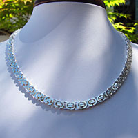 Splendid Necklace - King's Chain flat 11mm 925 Silver