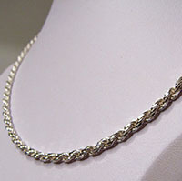 Cord Chain Necklace Ø 3mm made of 925 Sterling Silver /1-2