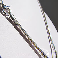 Octagonal Snake Chain Necklace 4mm - 925 Sterling Silver