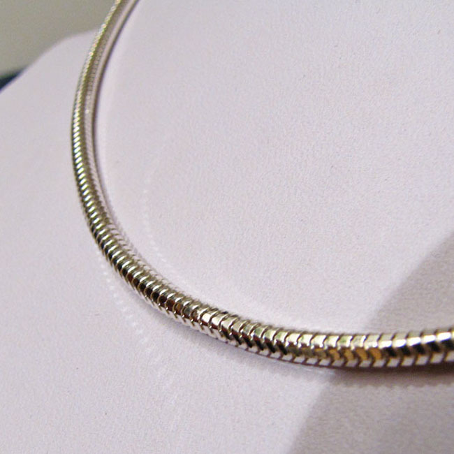 Octagonal Snake Chain Necklace 5mm - 925 Sterling Silver